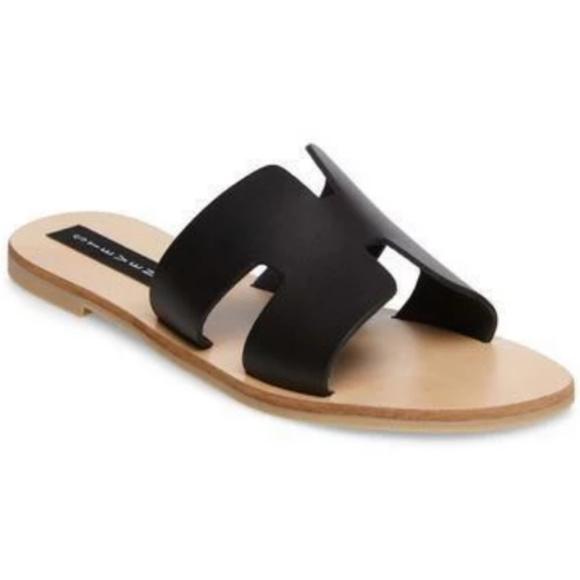 Steven By Steve Madden Shoes - Greece Sandal in Black - Steven by Steve Madden